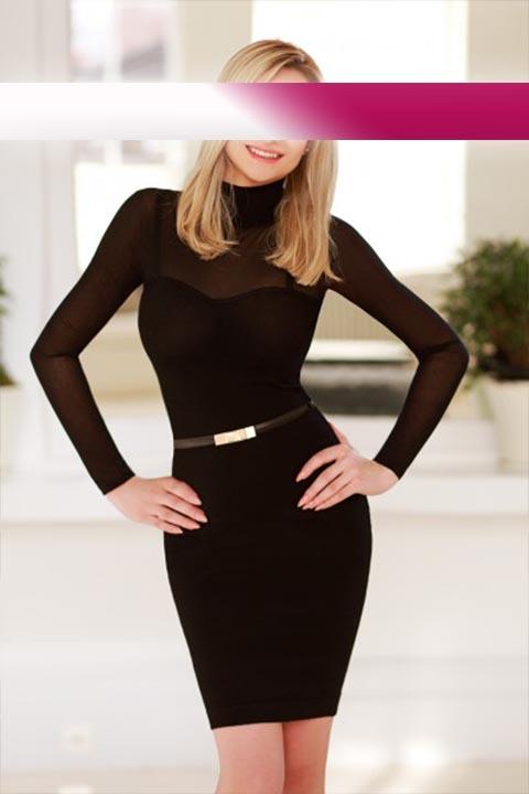 Claudia in a Black Dress